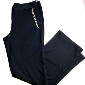 Calvin Klein Black Dress Pants Size 10 Cheetah